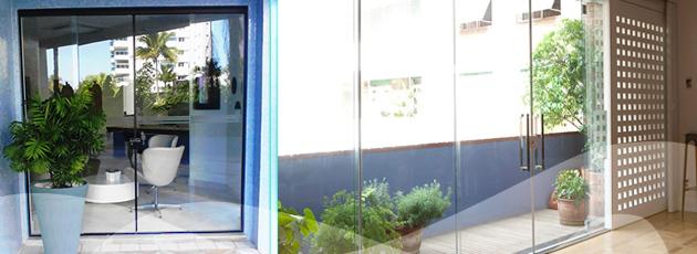apollo vidros portas e janelas em vidro temperado1 Fechamento de Ambientes